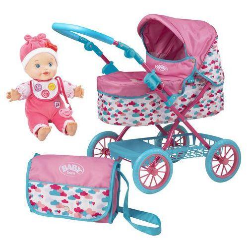 HTI Baby Born Wózek głęboki dla lalek z torbą na ramię + Lala Ala