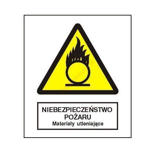 Znak niebezpieczeństwo pożaru - materiały utleniające fb Techem