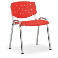 Krzesło konferencyjne tony, czerwony - kolor konstrucji chrom marki Antares