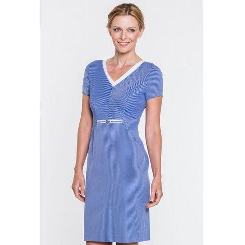 1a9f0cb667 Zobacz ofertę Niebieska sukienka w białe prążki - Vito Vergelis