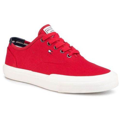 Tommy hilfiger Tenisówki - core oxford twill sneaker fm0fm02670 primary red xlg
