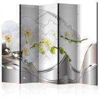 Parawan do mieszkania 5-częściowy - Perłowy taniec orchidei II 225 szer. 172 wys.