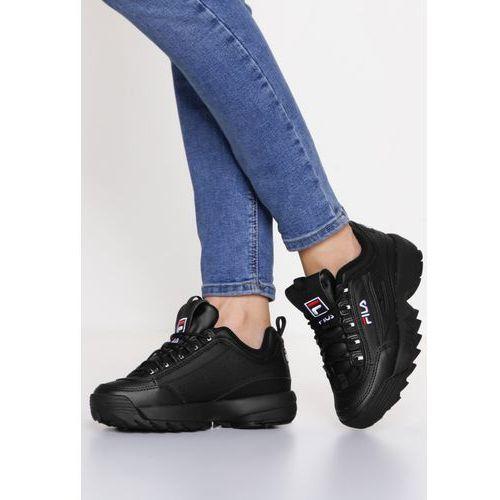 taniej klasyczne buty uważaj na Fila DISRUPTOR LOW Tenisówki i Trampki black, w 6 rozmiarach ...