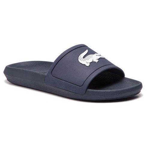Lacoste Klapki - croco slide 119 1 cma 7-37cma0018092 navy/white
