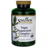 Kapsułki Swanson Triple Magnesium Complex (magnez) 400mg - (300 kap)