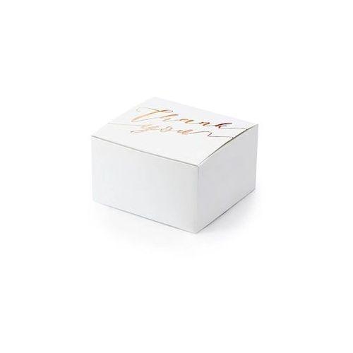 Pudełeczka dla gości ze złoto-różowym napisem Thank You - 10 szt. (5900779100183)