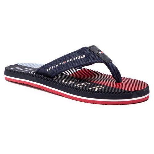 c2100ae914940 Japonki - th seasonal beach sandal fm0fm02082 midnight 403 Tommy hilfiger