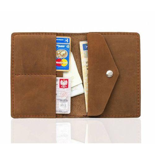92d245ed469fe Brodrene Skórzany cienki portfel slim wallet z kieszenią na bilon sw-08 -  foto