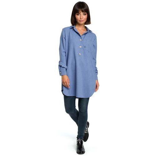 17fc0fedb48fda Niebieska długa koszula z kieszenią, , 36-46 (MOE) opinie + recenzje ...