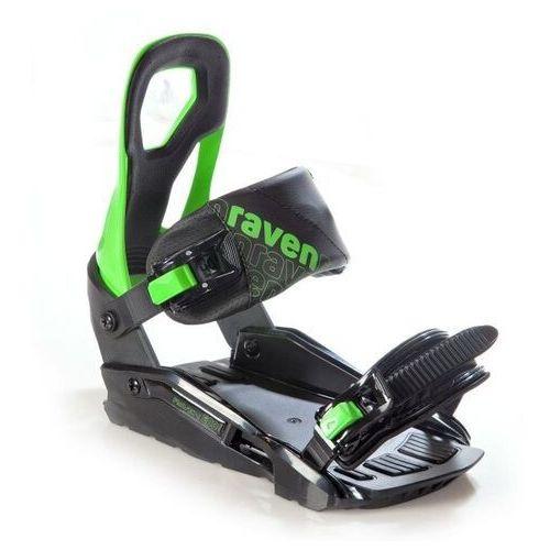 Wiązania snowboardowe raven s200 (black / green) 2021 (5902276683039)