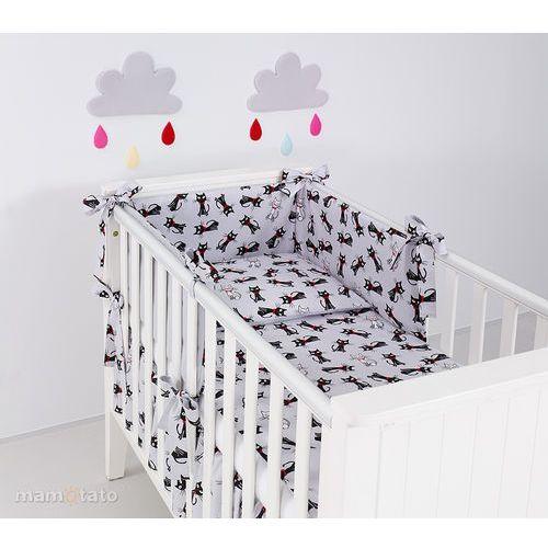 ochraniacz rozbieralny do łóżeczka 70x140 cm kotki szare / szary marki Mamo-tato
