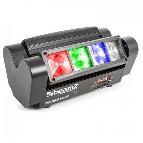 beamZ MHL820 Podwójny efekt Helix 8 diod LED RGBW 3 W DMX pilot na podczerwień