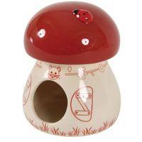 Zolux domek ceramiczny grzybek czerwony- rób zakupy i zbieraj punkty payback - darmowa wysyłka od 99 zł (3336022066654)