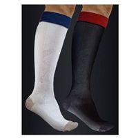 Podkolanówki sportowe kompresyjne active effect - unisex (ucisk i klasy 21mmhg) - kolor biały - antistress marki Antistress (włochy)