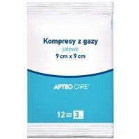 Synoptis pharma Kompresy z gazy jałowe apteo 9 x 9cm x 3 sztuki