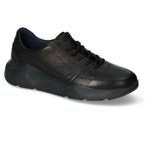 Sneakersy Badura 3811 Czarne lico, kolor czarny