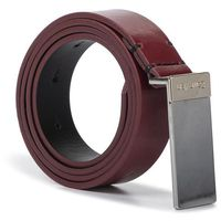 Pasek Damski CALVIN KLEIN - 2,5Cm Plaque Belt K60K605711 Barn Red XCL
