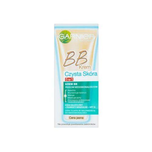 Czysta skóra 5w1 bb cream przeciw niedoskonałościom cera jasna spf 15 50ml - Garnier