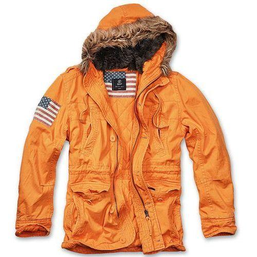Brandit Kurtka Zimowa Explorer Stars & Stripes Pomarańczowa - Pomarańczowy