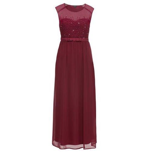 9b85d2add7 Sukienka wieczorowa z cekinami czerwony klonowy (bonprix) - sklep ...