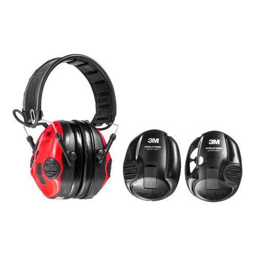 Ochronniki słuchu Peltor SportTac aktywne, czarno-czerwone