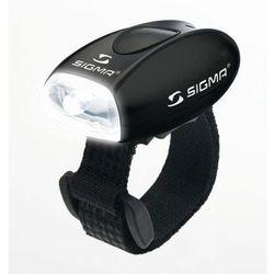 micro - lampa przednia, czarna - czarny marki Sigma