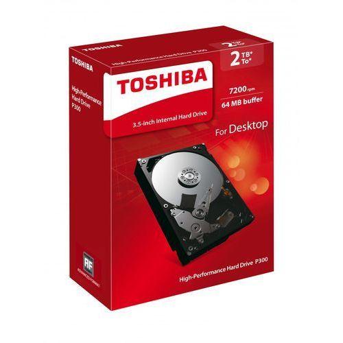 """Dysk wewnętrzny HDD Toshiba P300 3,5"""" 7200RPM SATA 6GB/s High Performance HDD 2TB HDWD120EZSTA - Natychmiastowa wysyłka kurierska!"""