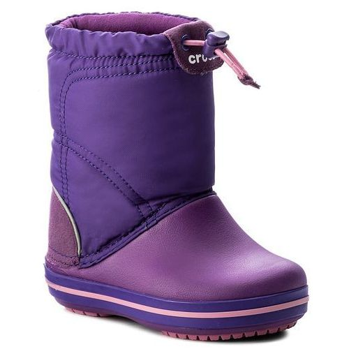 Śniegowce CROCS - Crocband Lodgepoint Boot K 203509 Amethyst/Ultraviolet, kolor fioletowy