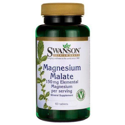 SWANSON Magnesium Malate (Jabłczan Magnezu) - 60 tabletek wegetariańskich