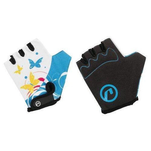 Rękawiczki dziecięce Accent Daisy biało-niebieskie L/XL, kolor niebieski