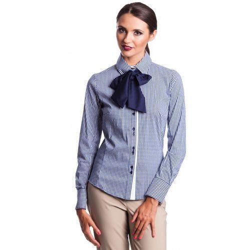 15a44409ab5da2 ... Koszula w kratkę z kokardą - marki Duet woman - Galeria produktu ...