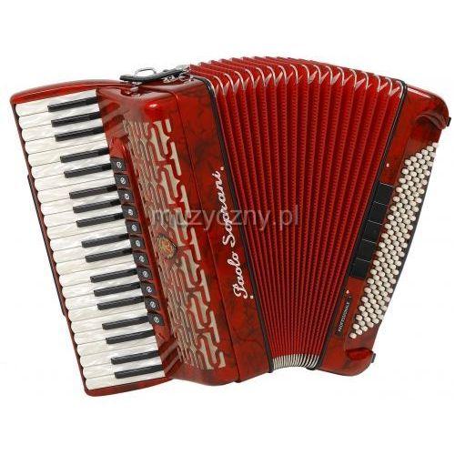 Paolo soprani  professionale 41/120 41/4/11+m 120/5/5 musette akordeon (czerwony)
