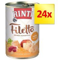 Rinti Zestaw filetto, 24 x 420 g - kurczak i szynka w sosie | dostawa gratis!