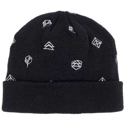 czapka zimowa BENCH - Turn Up Beanie With Embroidery Allo Black Beauty (BK11179), kolor czarny