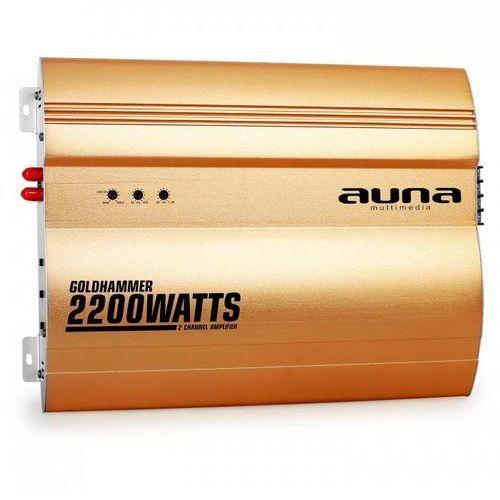 Auna Goldhammer 2-kanałowy wzmacniacz samochodowy 2200W (4260275624387)