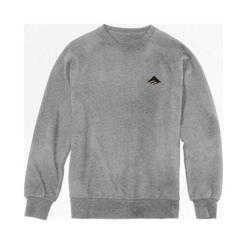 bluza EMERICA - Triangle Staple Crew Neck Grey/Heather (043) rozmiar: XL, kolor szary