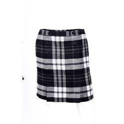Bonprix Spódnica w kratę czarno-biały w kratę