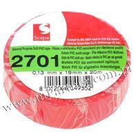 Taśma izolacyjna Scapa PCV 2701 19mm 20m czerwona