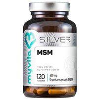 MSM Organiczny związek MSM 600mg 120 kapsułek MyVita Silver Pure (5903021590343)
