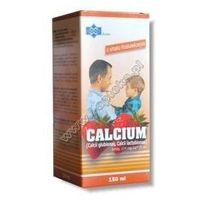 Syrop CALCIUM syrop 150ml - truskawkowy