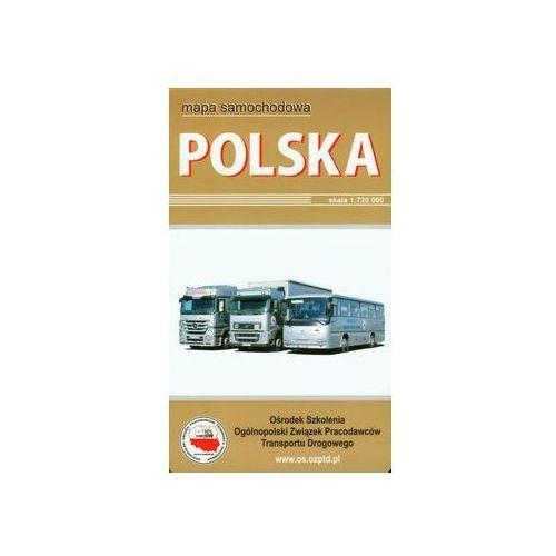 Polska mapa samochodowa w twardej okładce - DODATKOWO 10% RABATU i WYSYŁKA 24H!, BiK
