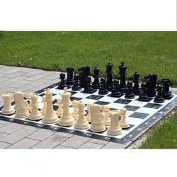 Mały zestaw do szachów ogrodowych król 20cm - figury + szachownica winylowa marki Sunrise chess