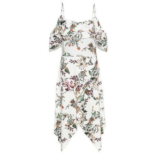 Sukienka bez rękawów malinowo-biały marki Bonprix