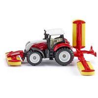 Siku Traktor steyr z kosiarką (4006874016723)
