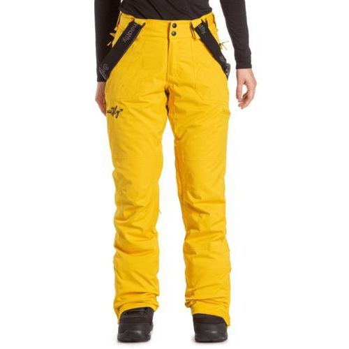 MEATFLY damskie spodnie snowboardowe Foxy Pants Yellow Stripe XS