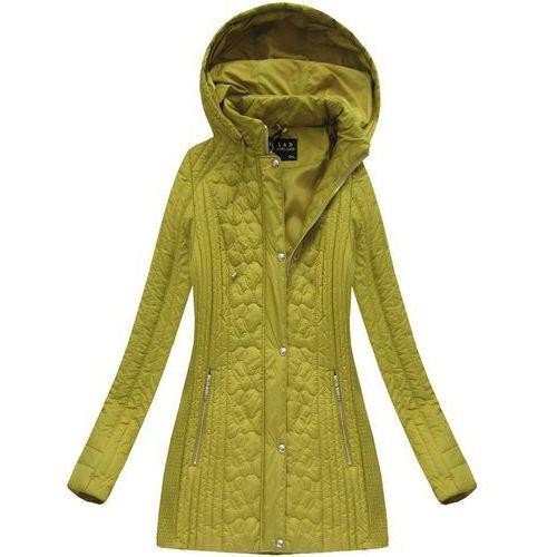 1303e7911937a Zobacz w sklepie Pikowana kurtka z kapturem musztardowa (7031big) - żółty,  Libland, 46-54