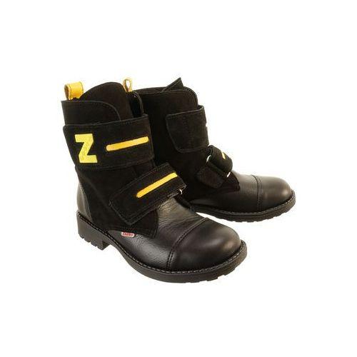 785097b1 Zobacz w sklepie ZARRO 135/00 czarny, trzewiki dziecięce, rozmiary: 31-36