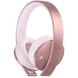 Zestaw słuchawkowy sony playstation rose gold wireless headset różowy marki Sony interactive entertainment