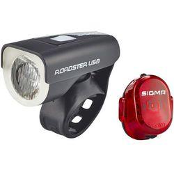 roadster zestaw oświetlenia usb/nugget ii czerwony/czarny 2018 oświetlenie rowerowe - zestawy marki Sigma sport