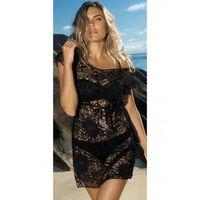 Sukienka plażowa damska Etna D-12 czarna